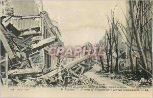 Old Postcard War of 1914 1918 In Belgium Nieuwpoort A street after the last b...