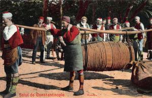 Turkey Salut de Constantinople Portefaix Porters Postcard
