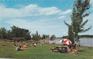 One of the many beaches provided by St. Lawrence Park Commission,  Ontario,  ...