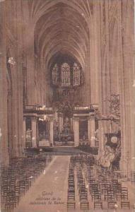 Belgium Gand Gent Interieur de la cathedrale St Bavon 1913