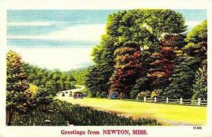 Mississippi Newton Greetings From Newton