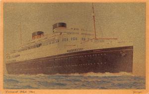 White Star Line Cunard Ship Post Card, Old Vintage Antique Postcard Georgic 1939
