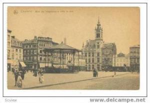 Charlerol. Belgium, 00-10s Hotel des Telegraphes et place du Sud.