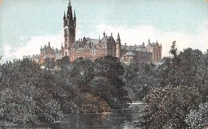 Scotland, UK Old Vintage Antique Post Card Glasgow University Unused