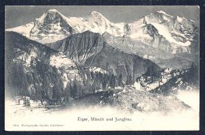Eiger, Mönch, & Jungfrau Alps Switzerland unused c1905