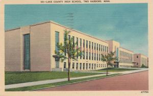 Lake County High School - Two Harbors MN, Minnesota - pm 1941 - Linen
