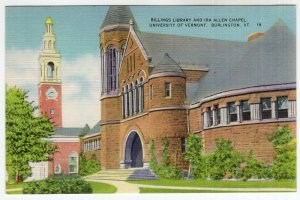 Burlington, Vt, Billings Library and Ira Allen Chapel, University of Vermont