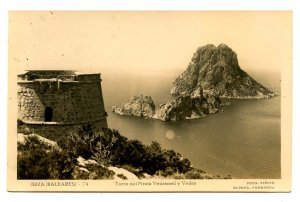 Spain - Ibiza. Watch Tower, Vedranell & Vedra   *RPPC