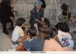 Childrens Lessons Of Pottery In Cyprus Postcard