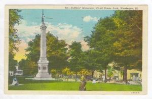Soldier's Monument, Court House Park, Waukegan, Illinois, PU-1944