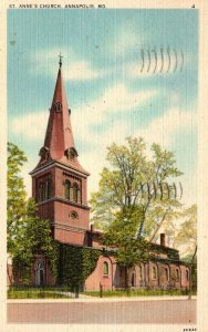 Maryland Annapolis St Anne's Church 1950