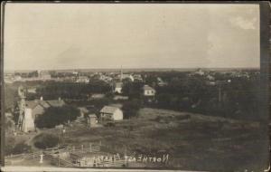 Northeast Arapahoe NE Birdseye View c1910 Real Photo Postcard