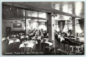 VTG Postcard RPPC Real Photo Idaho Springs CO Sanborn Placer Inn Interior A5