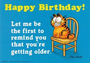 Jim Davis Garfield Happy Birthday