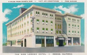 REDDING , California  , 1930-40s; The New Lorenz Hotel