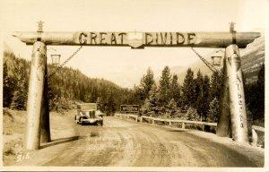 Canada - Alberta. The Great Divide, Yoho Nat'l Park.   RPPC