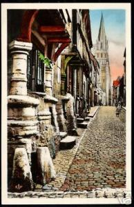 france, BAYEUX, Rue des Cuisiniers 1930 CAP tinted ppc