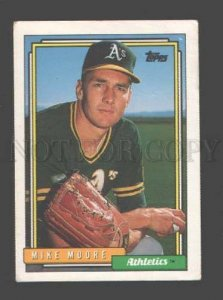 088901 Baseball Topps CARD 1992 Mike Moore Athletics #359