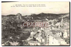 Old Postcard Les Baux View of the Grand Rue in the modern city of Mireille de...