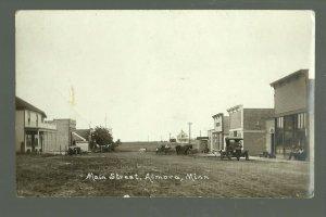 Almora MINNESOTA RP c1910 MAIN STREET nr Henning Parkers Prairie GHOST TOWN