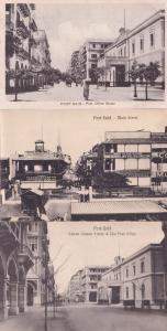 Port Said Post Office Savoy Hotel Main Street 3x Old Postcard s