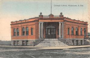 Watertown South Dakota Carnegie Library Exterior Antique Postcard K21298
