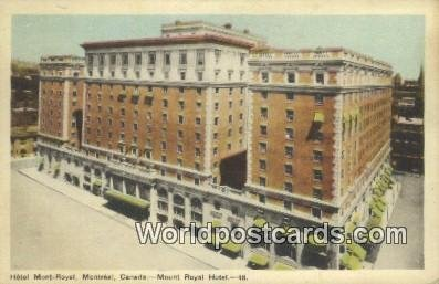 Hotel Mont Royal Montreal Canada 1948