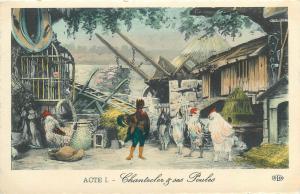 France theatre costumes Chantecler de M. Edmond Rostand chantecler et ses poules