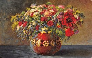 Flowers in a Vase  Postcard PU Unknown