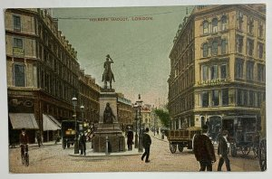 Old Divided Back Era Postcard Holborn Viaduct, London, England, Unposted