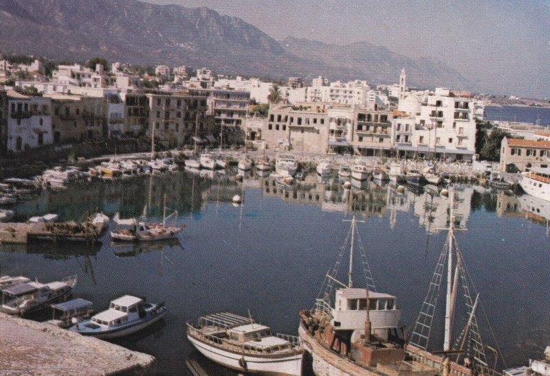 GIRNE, Cyprus, 1950-1970s; Girne Limani, Sailboats At Kyrenia Harbour