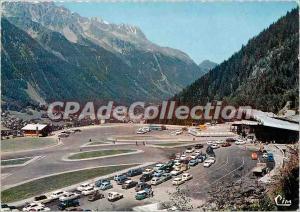 Modern Postcard Mont Blanc Tunnel Chamonix Access Platform and Red Needles