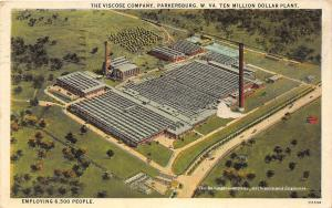 C8/ Parkersburg West Virginia WV Postcard 1928 Viscose Company Factory 6500empl