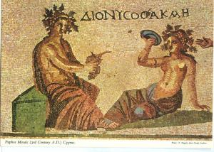 Paphos floor mosaic, Cyprus, unused Postcard