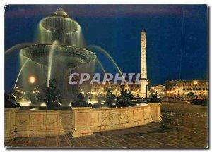 Modern Postcard Paris Concorde Square Illuminee