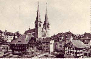 HOFKIRCHE LUZERN LUCERNE, SWITZERLAND 1952