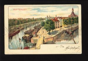 073808 HOLLAND ROTTERDAM ships Vintage lithograph RPPC