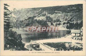Old Postcard The Black Lake and the Restaurant