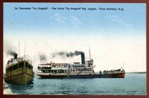 dc1155 - TROIS RIVIERES Quebec Postcard 1910s Steamer Ferry LE PROGRES