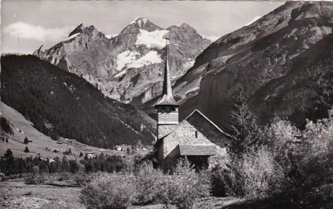 Switzerland Kandersteg Katholische Kirche und Bluemisalp Photo