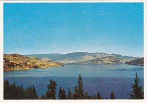 Canada British Columbia Vernon Roadside View Across Lake Kalamalka