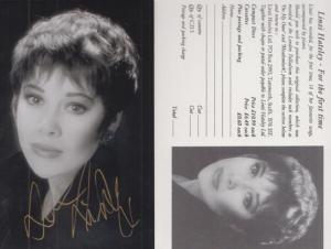 Linzi Hateley For The First Time Record Advertising Card & Photo