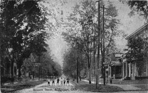 E81/ Martins Ferry Ohio Postcard c1910 Bennett Street Homes Kids 20