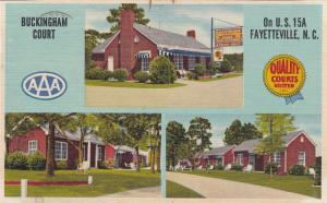 FAYETTEVILLE, North Carolina, 1951 ; 3-views, Buckingham Court