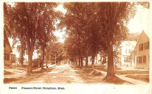 Stoughton MA Pleasant Street Underwood & Underwood RPPC Postcard
