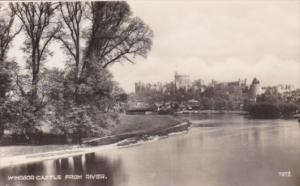 England Windsor Castle From The River Real Photo