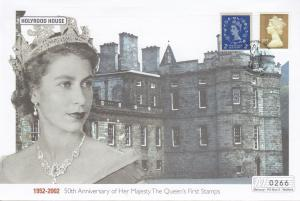 Holyrood House Queen Elizabeth II Golden Jubilee Rare Stamp 50th Anniversary FDC