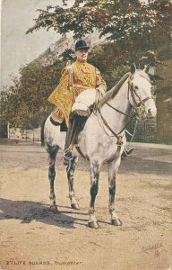 The 2nd Life Guards. Trumpeter. Horse Tuck Oilette Postcard # 9426