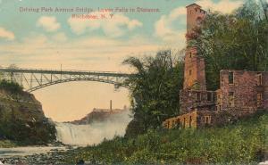 Ruins below Driving Park Avenue Bridge - Lower Falls, Rochester, New York - DB