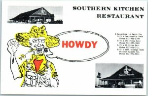 Byron, Georgia Postcard SOUTHERN KITCHEN RESTAURANT Interstate 75 Roadside 1960s